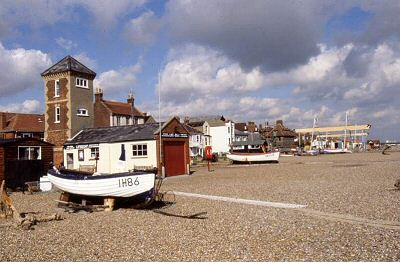 Aldeburgh's shingle beach. Photo source: coastalconnect.co.uk