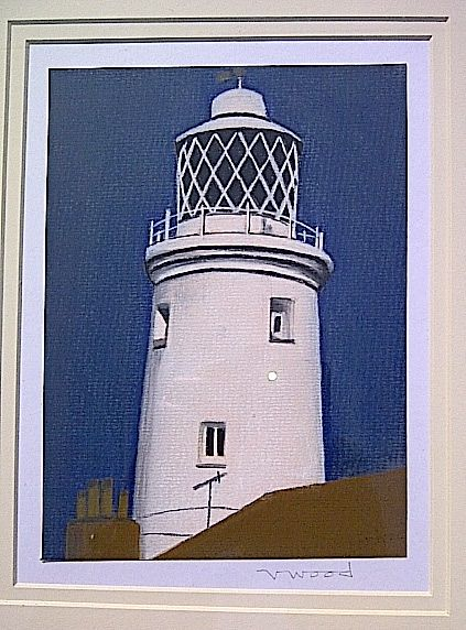 Southwold lighthouse in pastels, by Valerie Wood