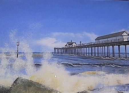 Southwold Pier in pastels, 2012 - by Valerie Wood