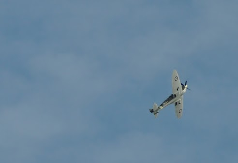 Spitfire flown over Southwold, by Carolyn Grace