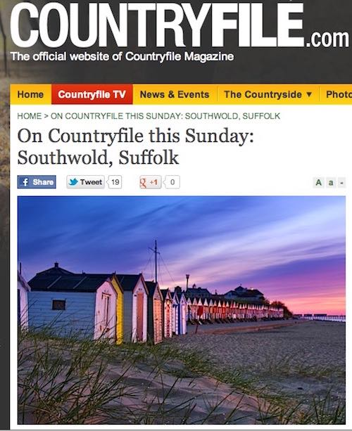 Look out for Southwold on BBC1's Countryfile tonight