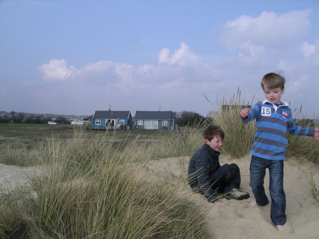 Playing on the sand dunes