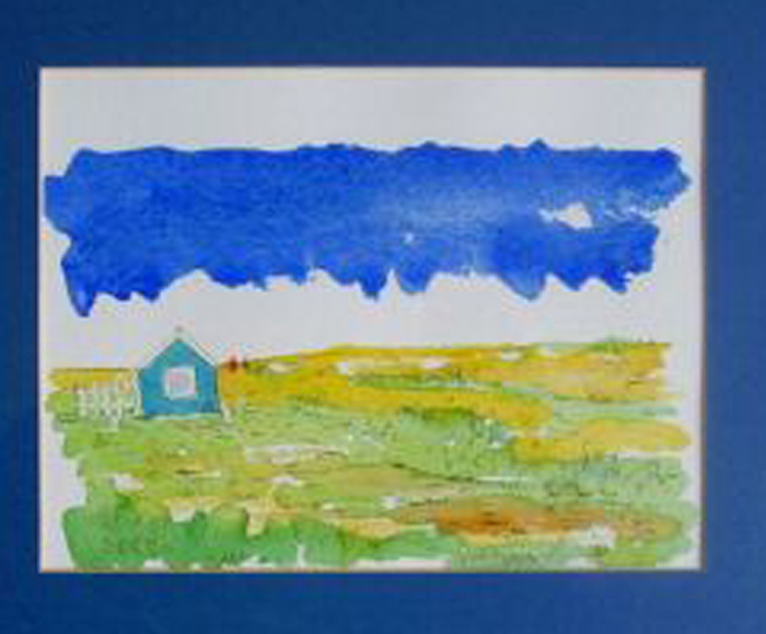 The other blue house George Edwards