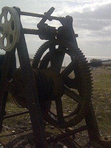 Winch on Sizewell beach