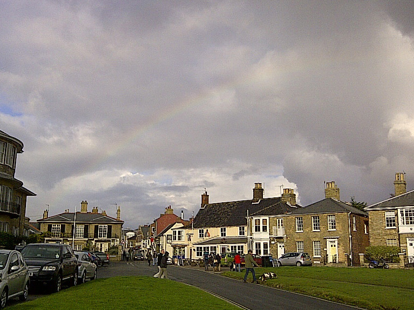 Faint rainbow over Southwold Nov 2012