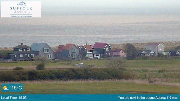 View of Ferry Road from Southwold webcam