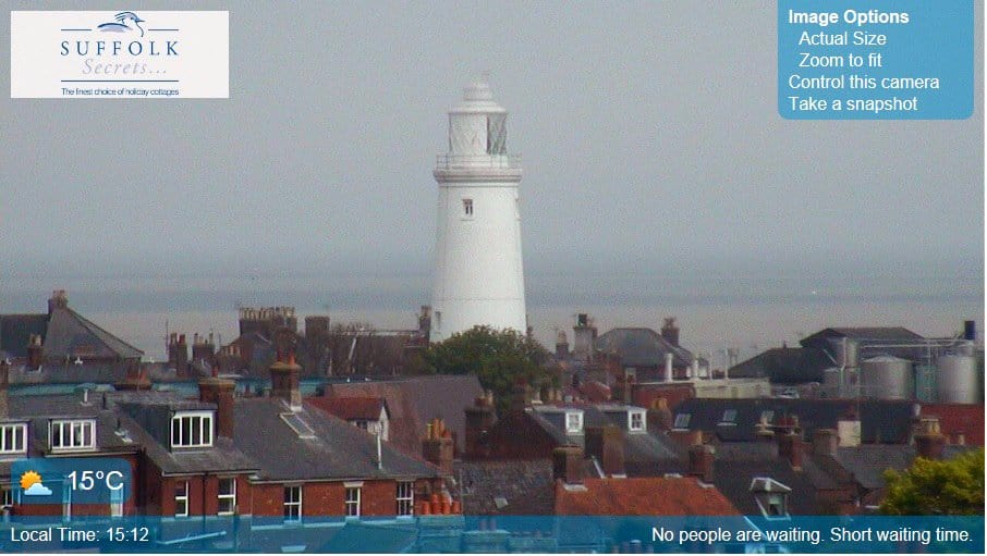 Southwold webcam view of the lighthouse