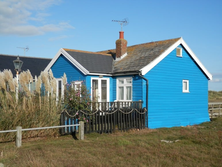Mandalay holiday cottage on the dunes of Southwold beach