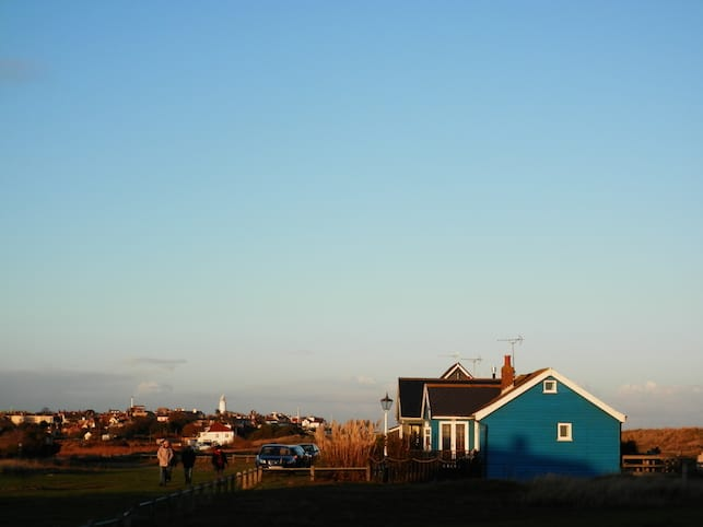 November light over Mandalay cottage in Southwold