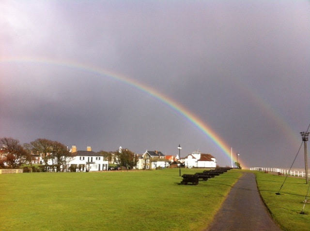 Rainbows over Southwold and Gun Hill
