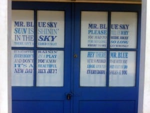 Mr Blue Sky Southwold beach hut